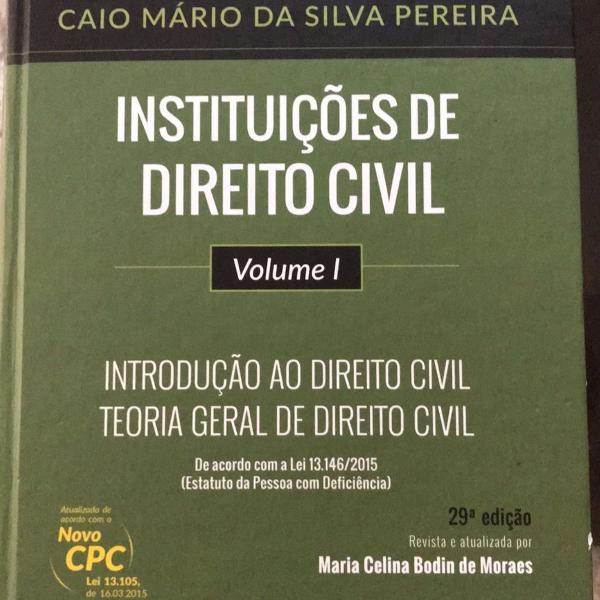 instituições de direito civil vol i