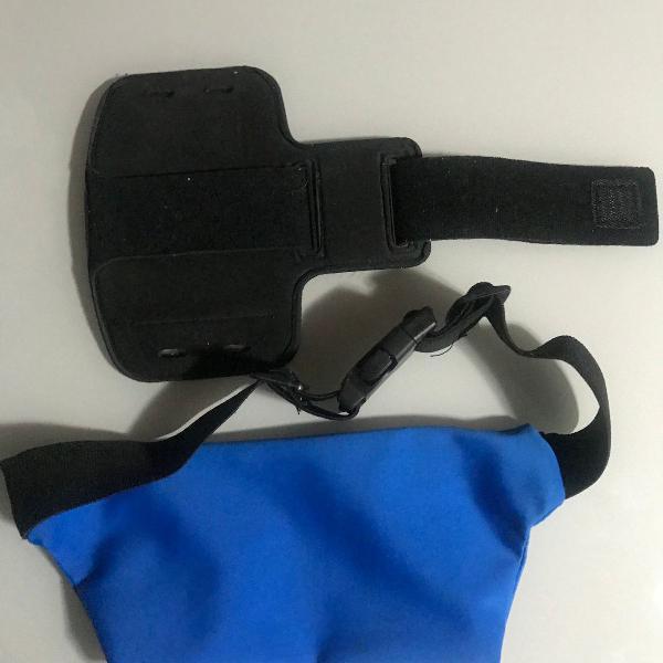 Kit pochete e bracelete para celular atividade física