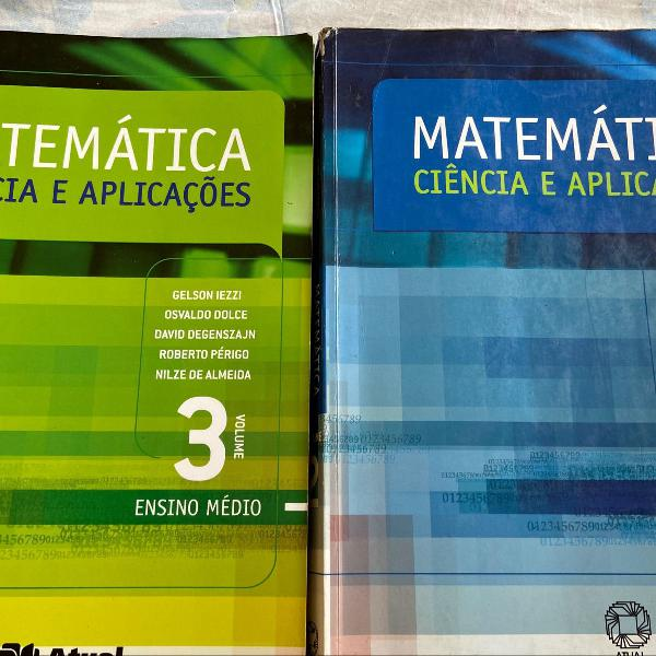 Livro matemática ciências e aplicações, segundo e