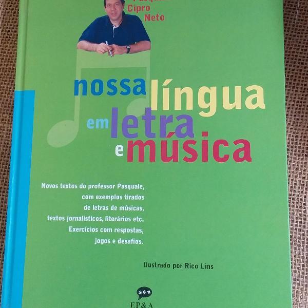 Livro nossa língua em letra e música