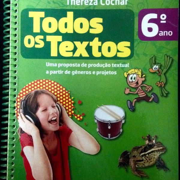 Livro todos os textos 6ª ano