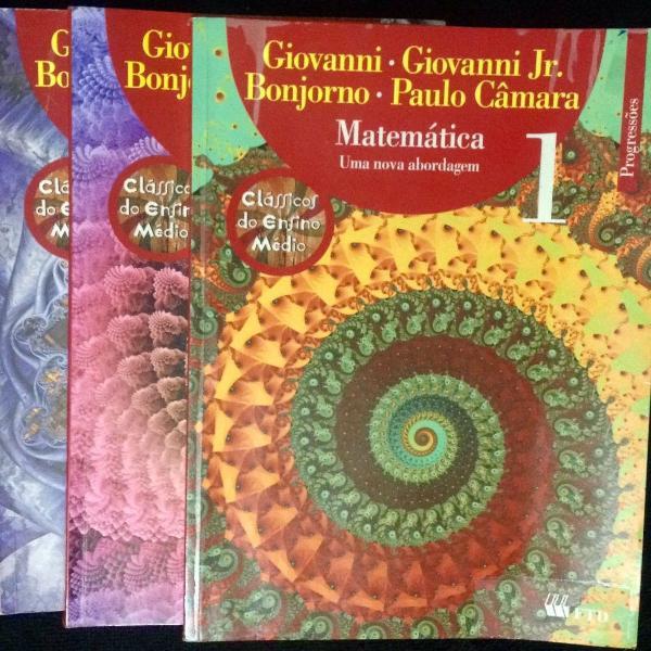 Livros matemática - uma nova abordagem - 1, 2 e 3