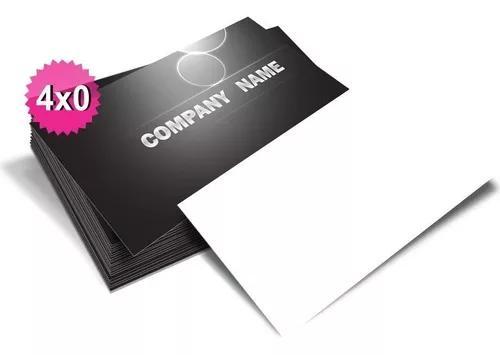 1000 cartão de visitas só frente promoção