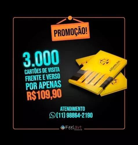 3.000 cartões de visita (frente e verso) promoção!