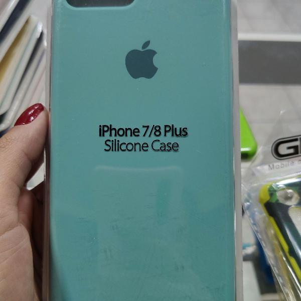 Case iphone 7/8 plus verde água