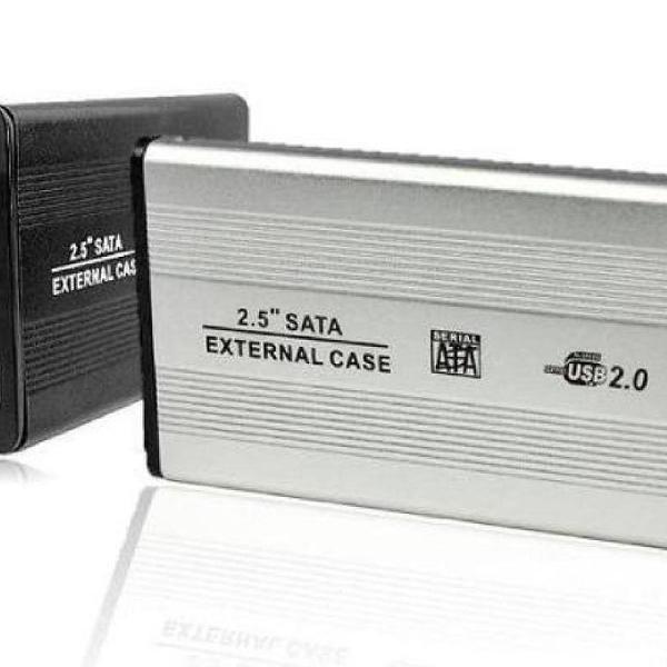 Case hd externo notebook sata 2.5 usb gaveta alumínio slim