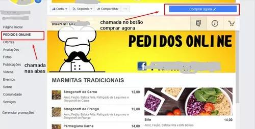 Config. de aplicação web para pedidos online de alimentos