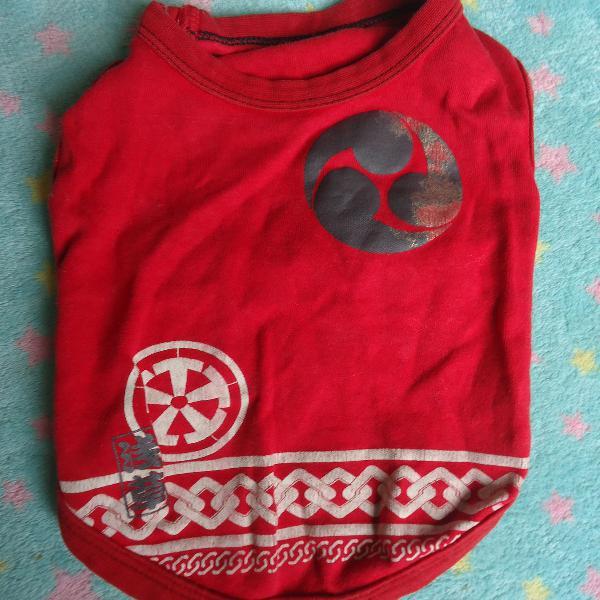 Roupa para pet cachorro blusa vermelha usada