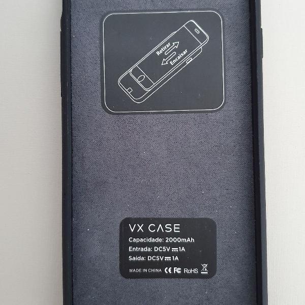Caoa carregadora iphone 6 -8 vx case