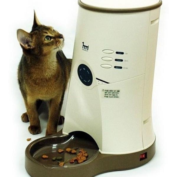 Comedouro automatico para caes e gatos