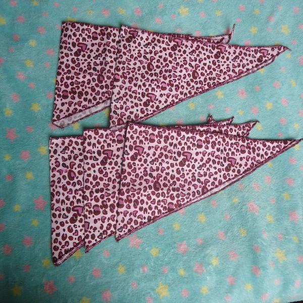 Kit de 05 bandanas pra pet pequeno/médio