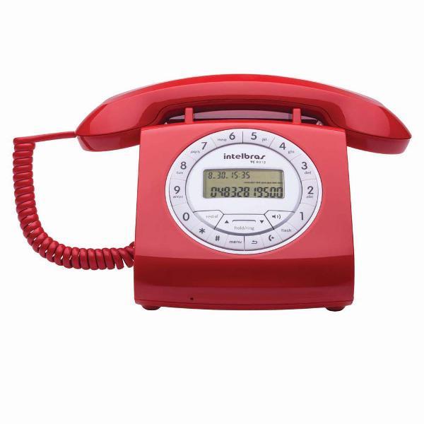 Telefone fixo intelbrás vermelho