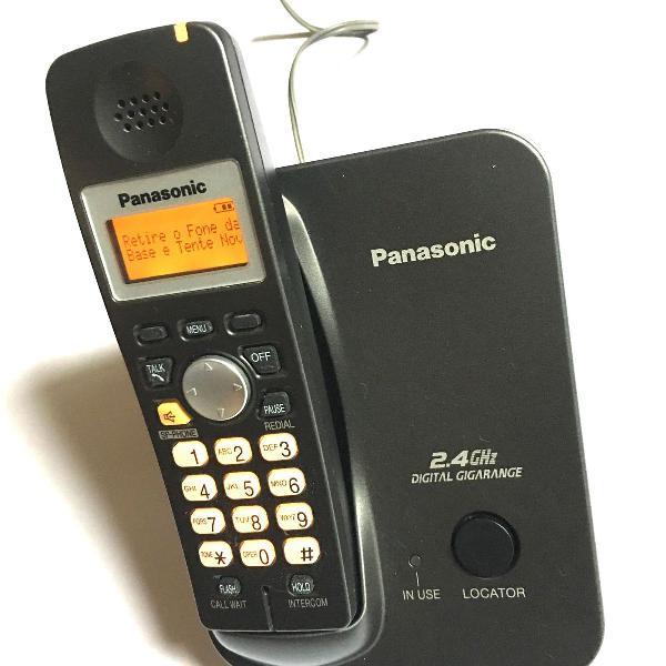 Telefone s/ fio panasonic c/ viva voz +1 ramal