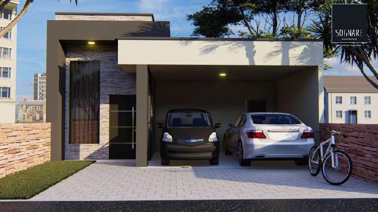Casa de condomínio para venda possui 86 metros quadrados