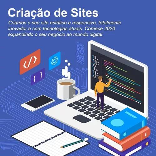 Criação de site, hospedag