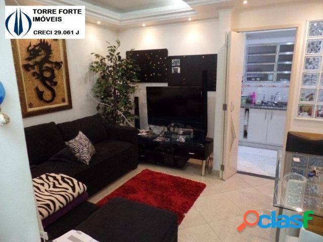 Uma linda casa condominio fechado com 2 dormitórios na villa ema. 1 vaga!