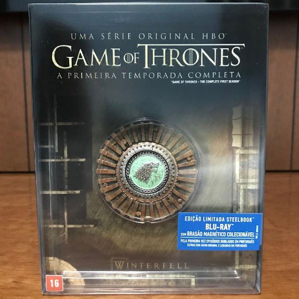 1ª a 6ª temporada - game of thrones - steelbook