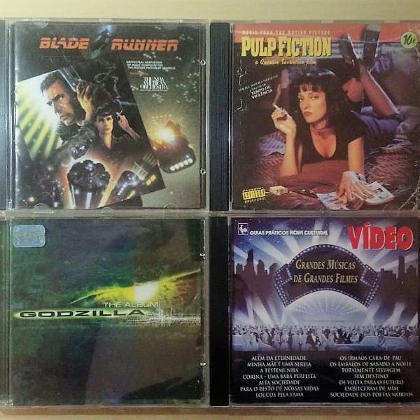 4 cds de trilhas sonoras