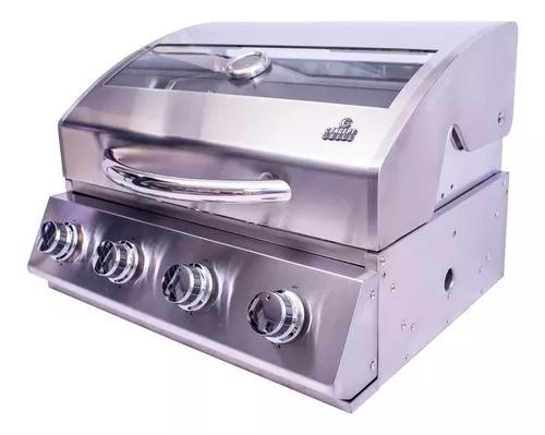 Churrasqueira a gás concept grill 4q 100% inox 304