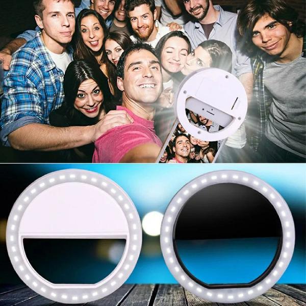 Flash led light ring para celular clipe