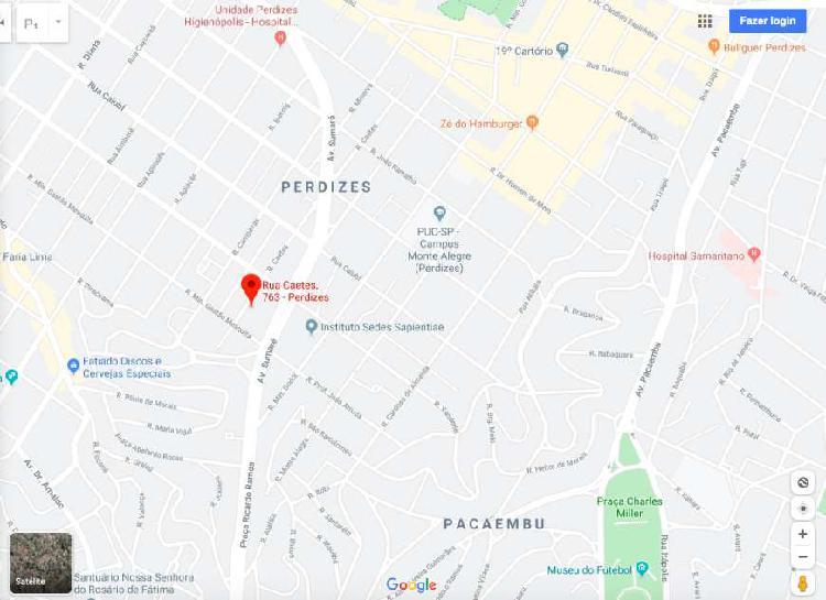 Lote/Terreno para venda tem 560 metros quadrados em Perdizes