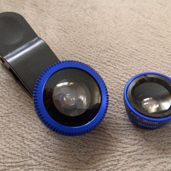 Universal clip lentes kit 3 em 1