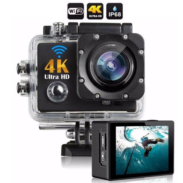 Câmera action go cam pro ultra 4k sport wifi hd prova