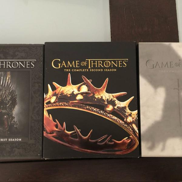 Game of thrones blu-ray temporadas 1,2 e 3