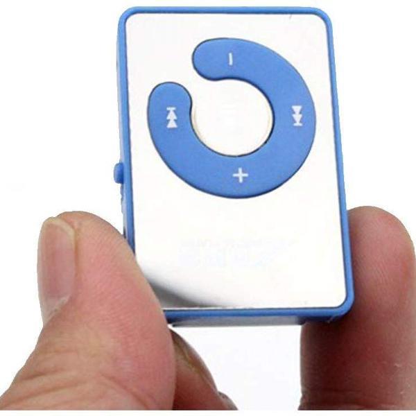 Mini mp3 espelho cor:azul