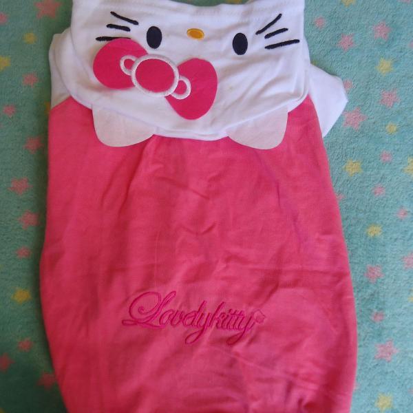 Roupa para pet cachorro hello kitty rosa usado