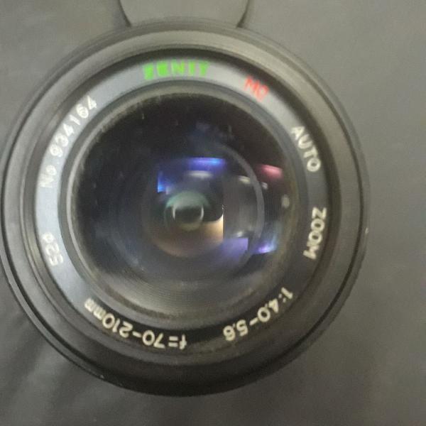 Três lentes para máquina fotográfica
