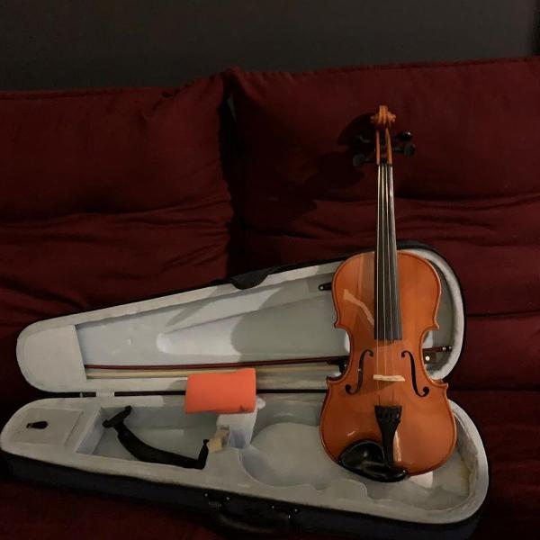 Violino anton breton hv-150 1/4 + case e arco.