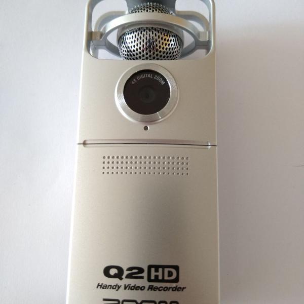Zoom q2hd gravador de áudio e filmadora full hd