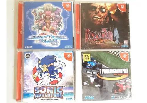 4 jogos originais sega dreamcast frete gratis 12x s