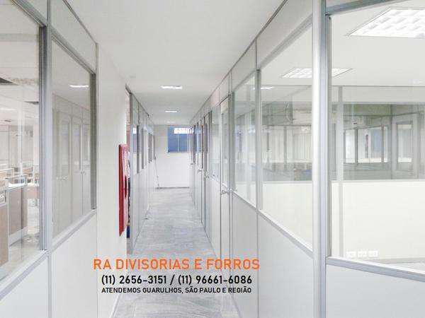 Divisoria em guarulhos-sp eucatex drywall forro isopor pvc