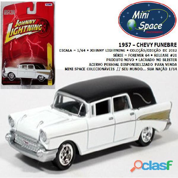 Johnny lightning 1957 chevy funebre 1/64 (raro)