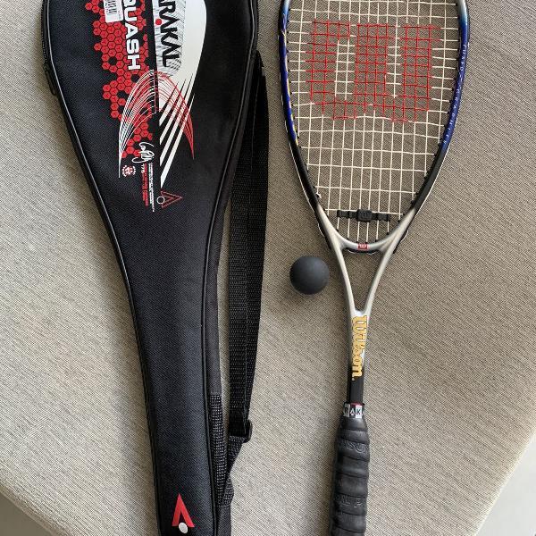 Raquete squash wilson titanium