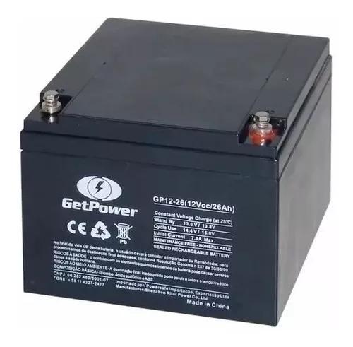 Bateria getpower selada vrla 12v 26ah - tecnologia agm vrla