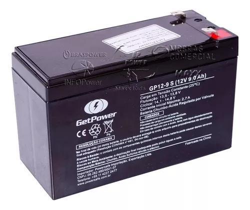 Bateria selada 12v 9ah - tecnologia agm - 3 anos vida útil