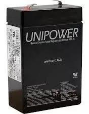 Bateria selada agm 6v 2,8ah up628 unipower 2.8ah