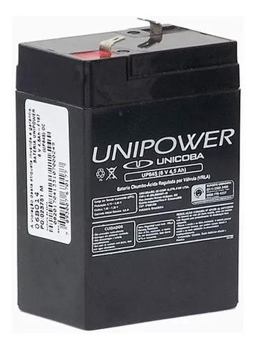 Bateria selada unipower vrla 6v 4,5ah up645 brinquedos