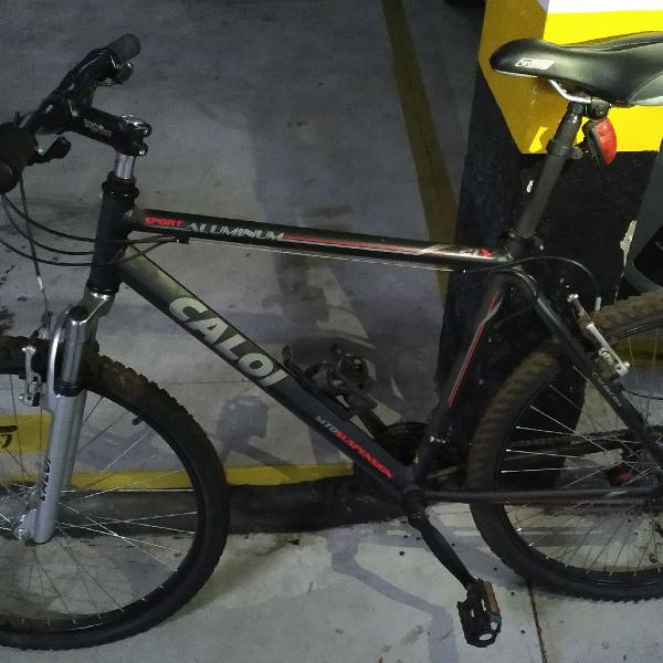 Bicicleta caloi alumínio + capacete