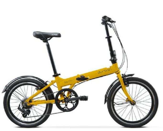 Bicicleta dobrável durban amarela