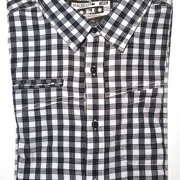 Novo - camisa macbeth xadrez azul e branco nova com etiqueta