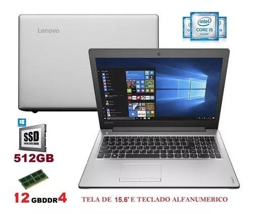 Notebook lenovo i5 6 geração 8gb ddr4/ ssd /hdmi tela de