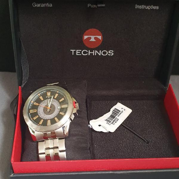 Relógio technos masculino racer 2117lai/1p aço