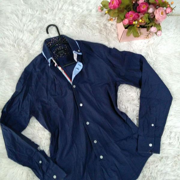 Zara man camisa social masculina original p!