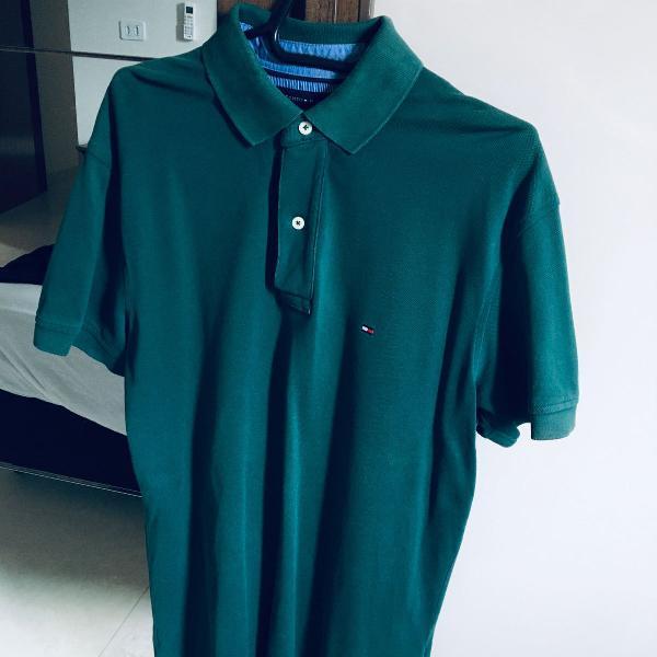 Camisa polo verde tommy hilfiger