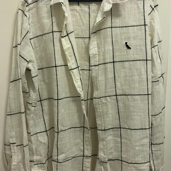 Camisa reserva xadrez off white