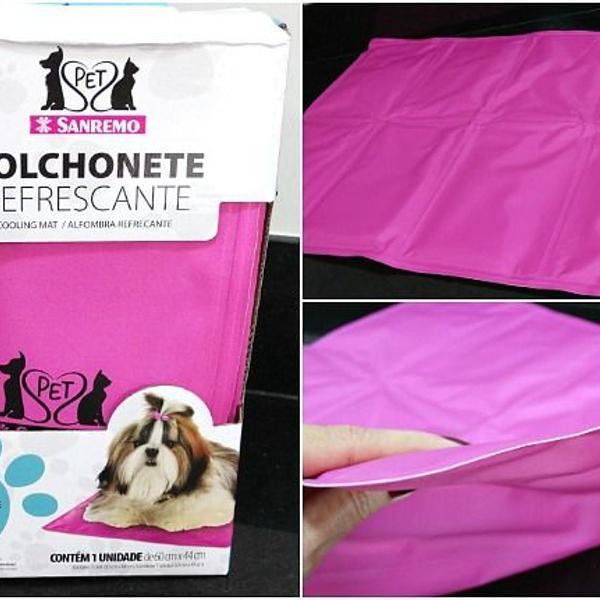 Colchonete refrescante em nylon sanremo para cães e gatos,